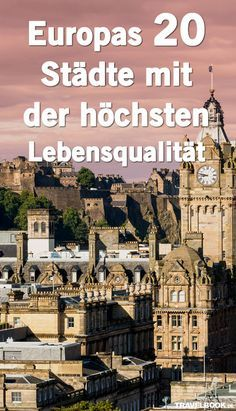 """Basierend auf User-Informationen hat die globale Datenbank """"Numbeo"""" einen Lebensqualitäts-Index für verschiedene Städte weltweit erstellt. Er soll zeigen, wo die Lebensqualität besonders hoch ist – gemessen an Faktoren wie etwa Kaufkraft, medizinischer Versorgung, Umweltverschmutzung und Klima. TRAVELBOOK zeigt die Top 20 für Europa, darunter sind auch vier deutsche Städte."""