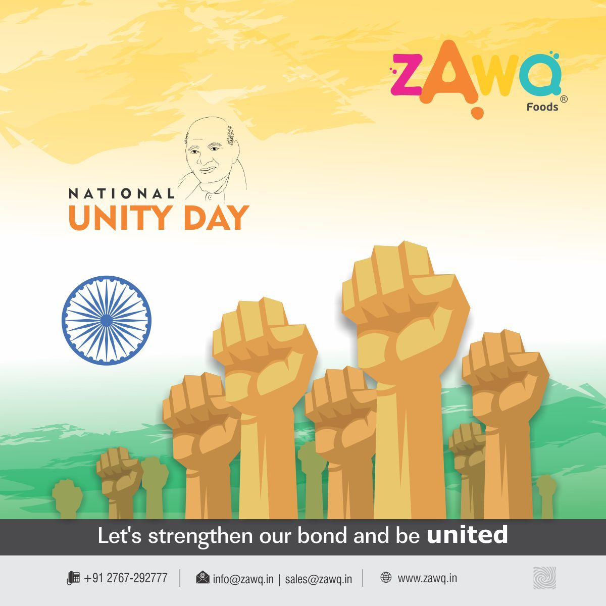 Let's strengthen our bond and be united National Unity Day