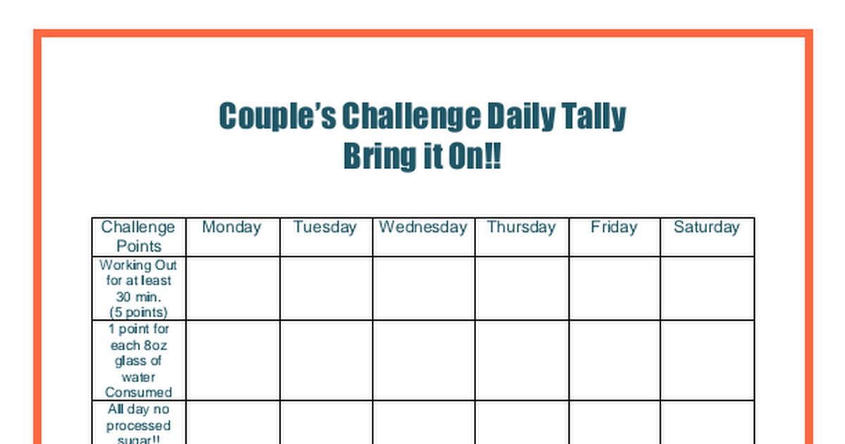 Couple Fitness Printable Pdf Fit Couples Couples Challenges Partner Workout