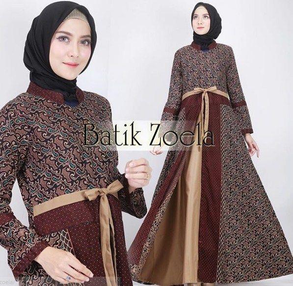 Model Baju Batik Gamis Gamis Batik In 2019 Batik Dress Dress
