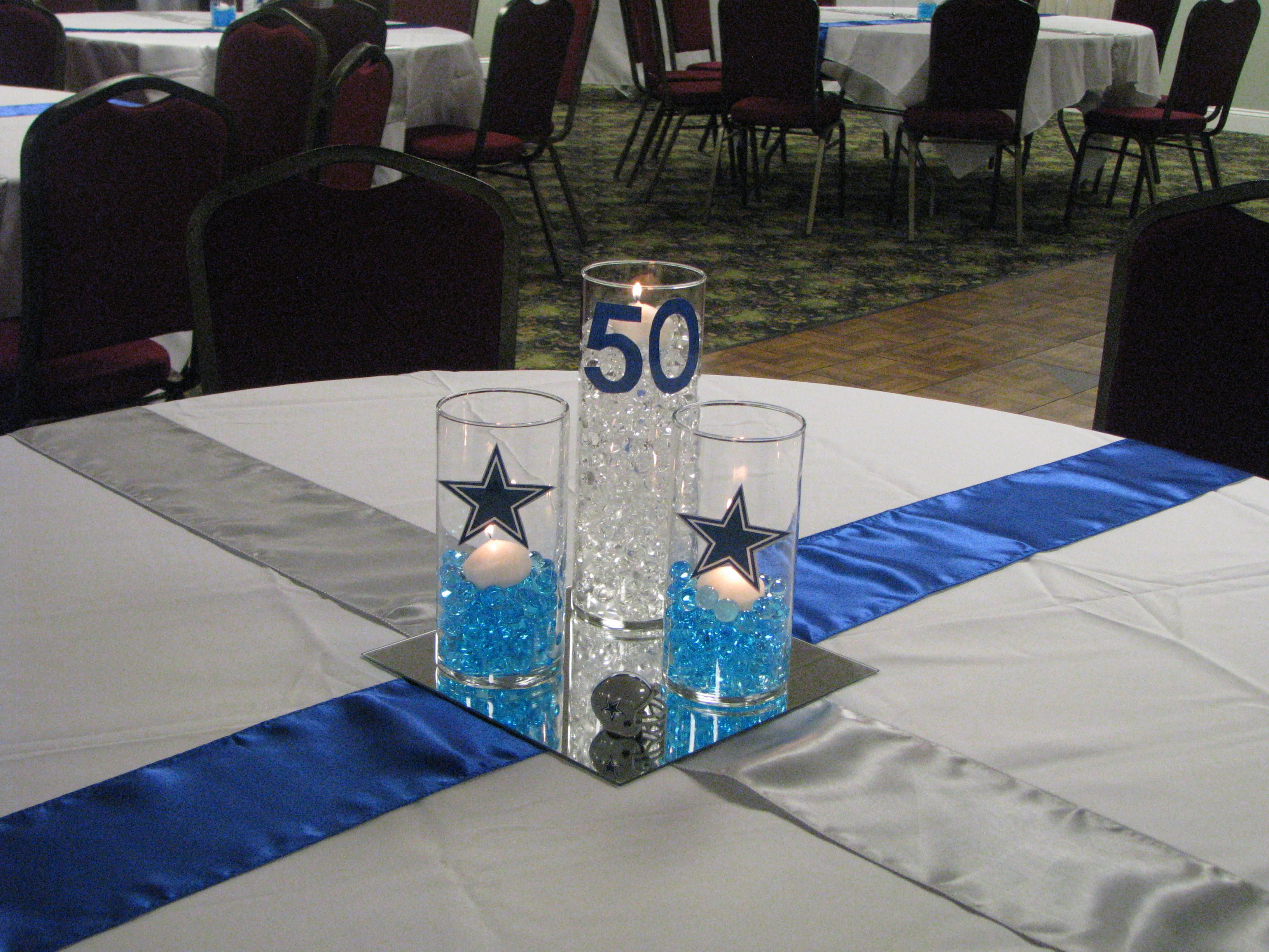 Dallas cowboy theme centerpiece expressions etc pinterest dallas cowboy theme centerpiece junglespirit Images