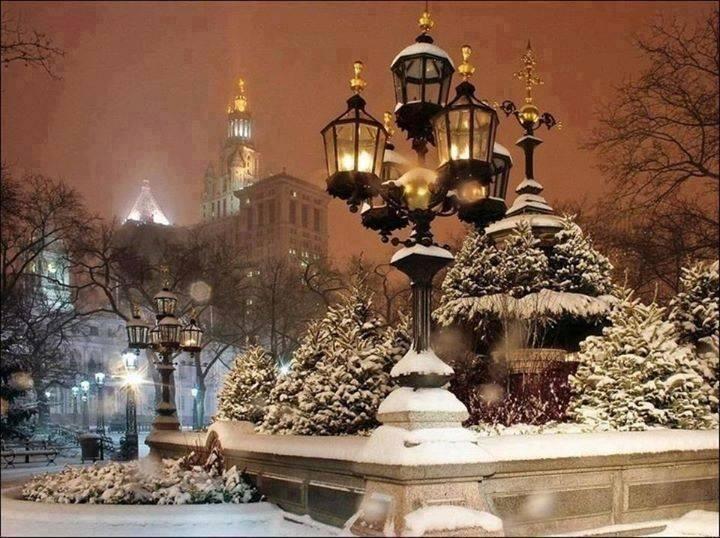 """@elinervi: ""@TheWorldStories: Snowy night in New York City ""spectacular!"""