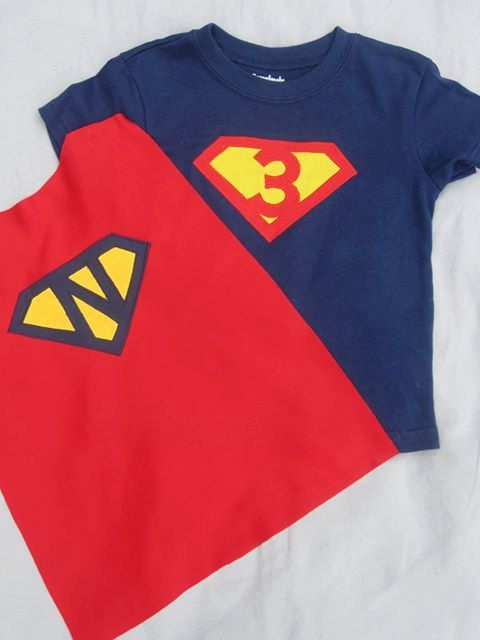 Applique Personalized Super Hero Birthday Shirt With Detaching Velcro Custom Cape On Etsy 3200