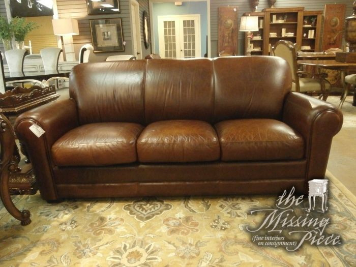 Rich Chocolate Distressed Leather Sofa This Sofa Has Rounded Arms