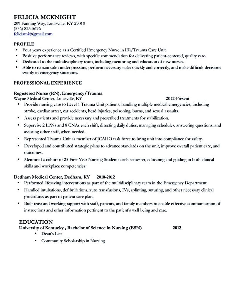 Registered Nurse Sample Resume Example Nursing Resume Cover Letter New Grad  Nurse Sample Graduate .
