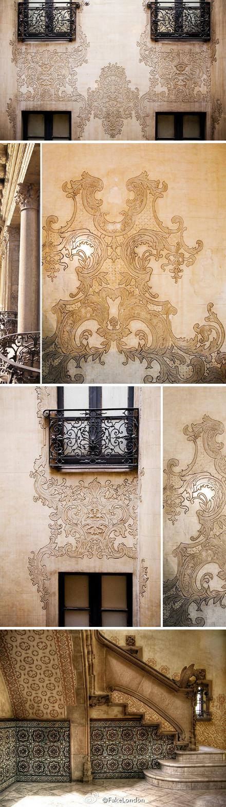House lace, Barcelona, Spain