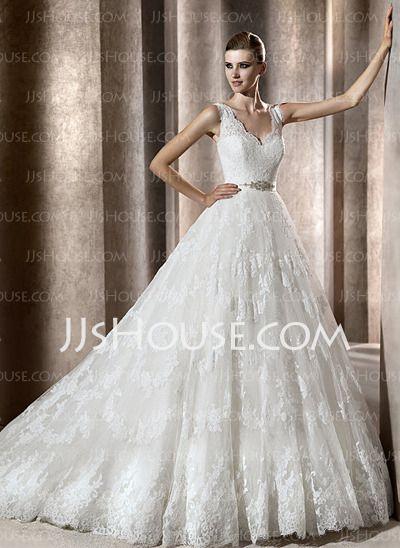 Vestidos de novia - $234.99 - Corte A/Princesa Escote en V Cola ...