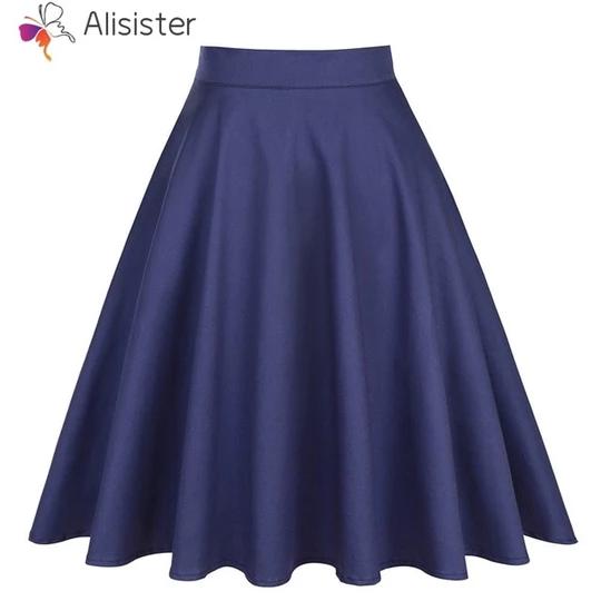 Luxury Fashion Beauty Women Faux Leather Pleated Swing Maxi Skirt High Waist WST