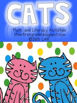 Cats Math And Literacy Activities Literacy Activities Math Center Activities Literacy