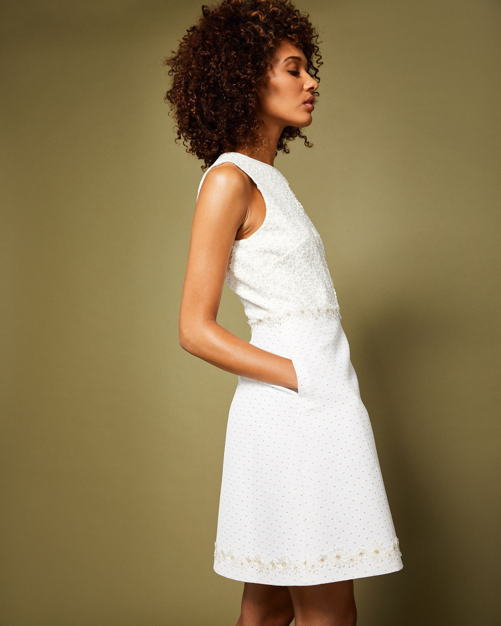 f5a7881279b Ted Baker Daisy Chain lace shift dress White | Wedding | Dresses ...
