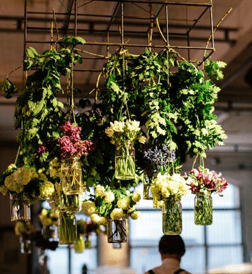 ed dixon food design catering melbourne flower chandeleir