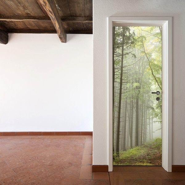 Puerta decorada decal pinterest puertas for Vinilos decorativos armarios