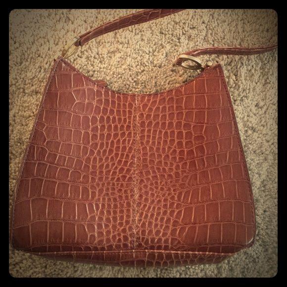 Liz Claibourne brown snakeskin purse