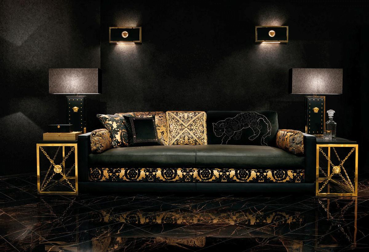 Versace Habille La Maison Au Salon Du Meuble De Milan Decoration Salon Marocain Deco Chambre Deco Maison