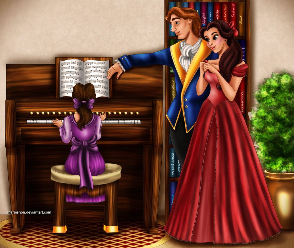 Princess Belle And Prince Adam Beauty And The Beast Gohana: Beauty The Beast Family Music II By *Mareishon On