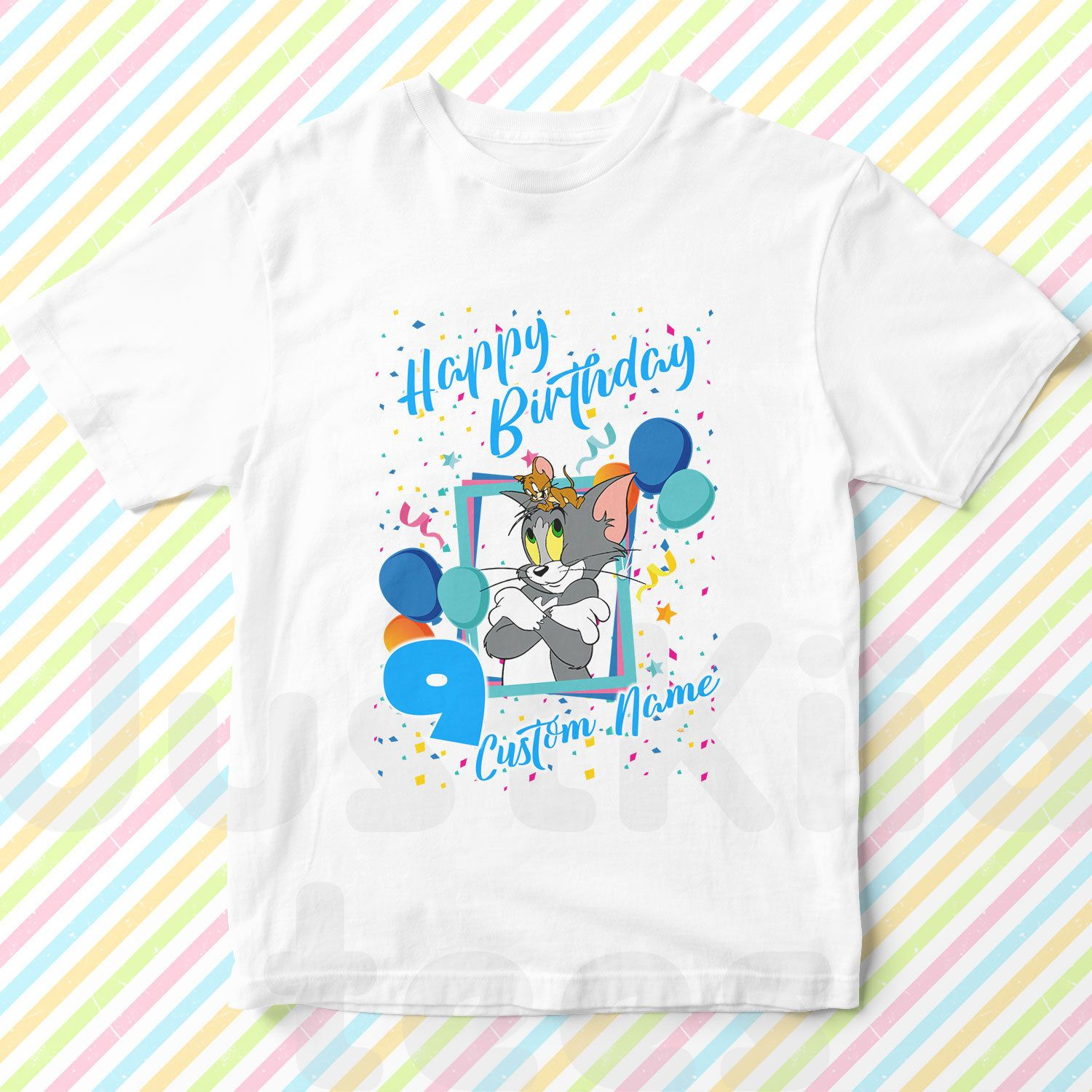 Tom and Jerry Custom birthday Tshirt Tom and Jerry T