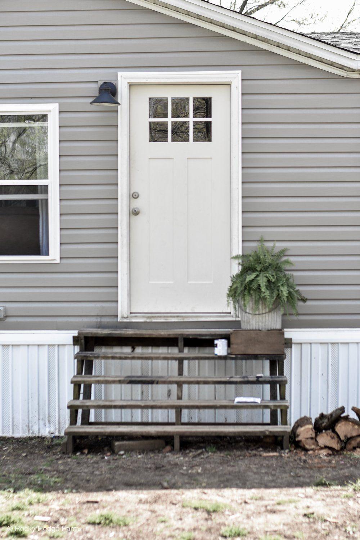 Mobile Home Spring Porch House Exterior Home Exterior Makeover