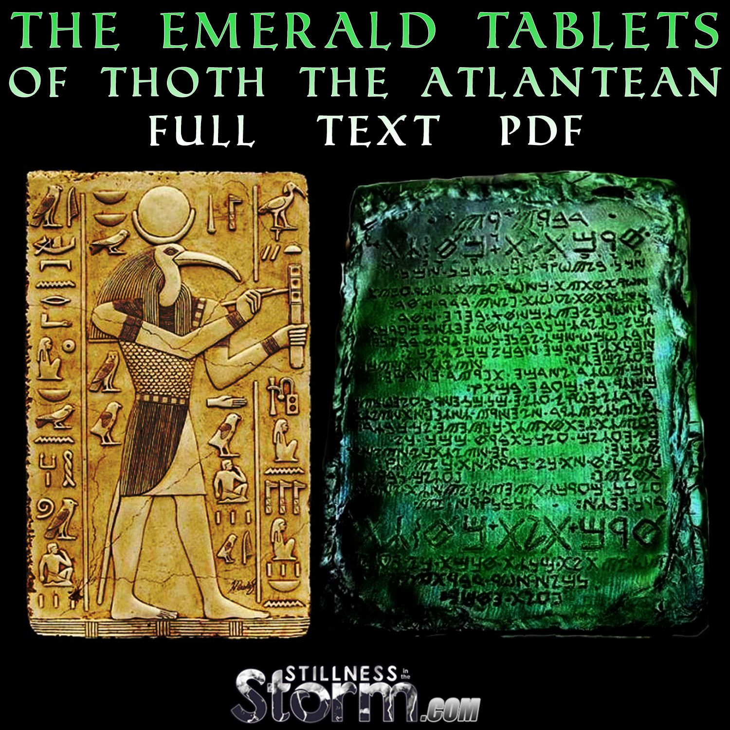 Stillness In The Storm : The Emerald Tablets Of Thoth The Atlantean  Full  Text Pdf
