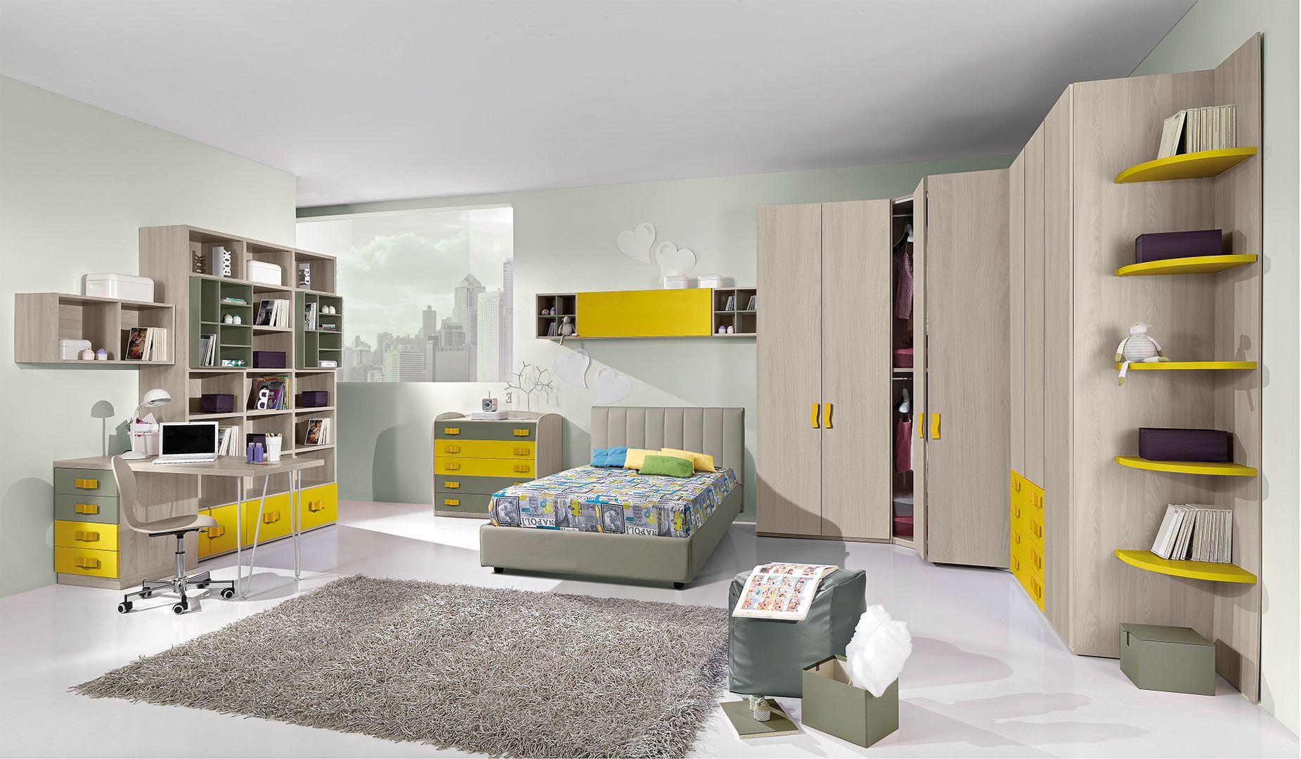 Camerette Moderne Per Ragazzi Cm19 Giessegi Design  # Giessegi Muebles Infantil