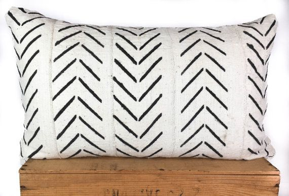 "16X26 Pillow Insert Impressive 16X26"" Inch White African Mud Cloth Pillow Cover  Home  Pinterest Decorating Inspiration"