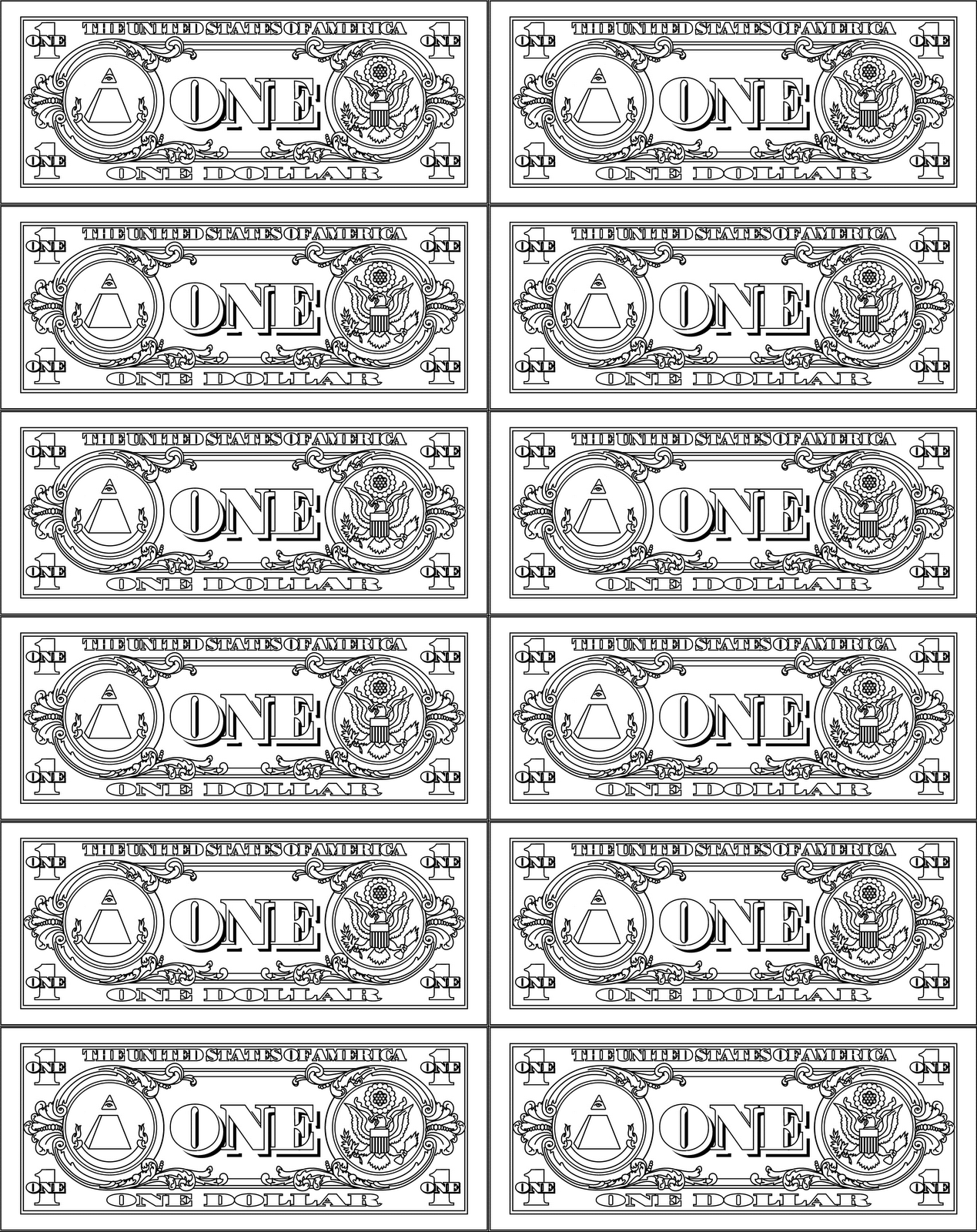 Printable Play Money 10
