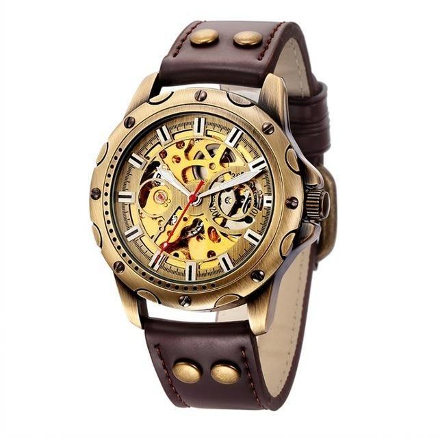 9cd22defe680 Steampunk watch with visible gears  watch  steampunk  menswatch  timepiece