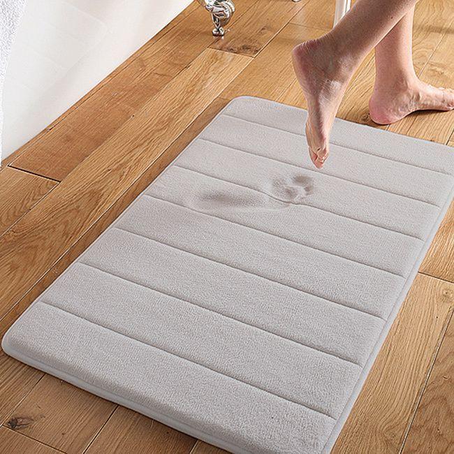 Super Soft And Absorbent 16x24 Memory Foam Bath Mat White 16 X