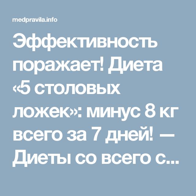 Диета Едим Чайной Ложкой.