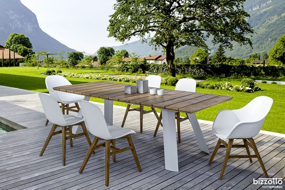 Tavolo Bizzotto ~ Talis e mauren tavolo sedia alluminio acciaio teak