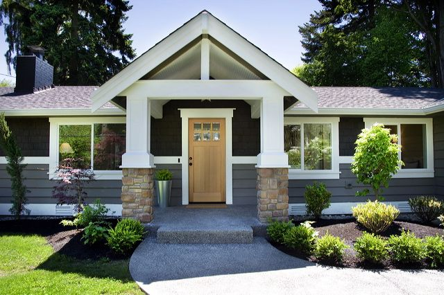 1000 Ideas About Brick Ranch Home Exterior Makeover House Exterior Ranch Style Homes