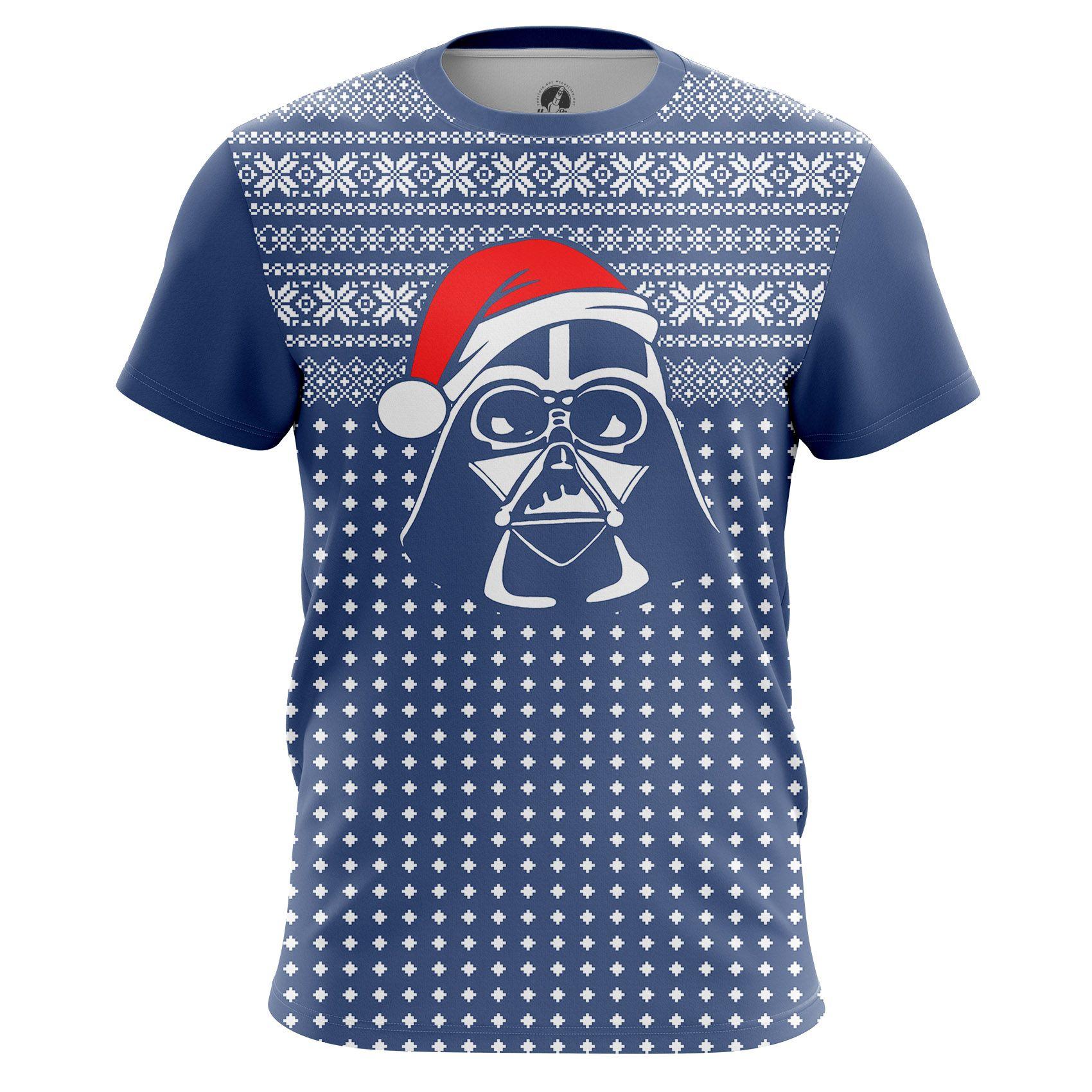 cool T-shirt Darth Vader Santa Christmas Xmas Star Wars Pattern ...