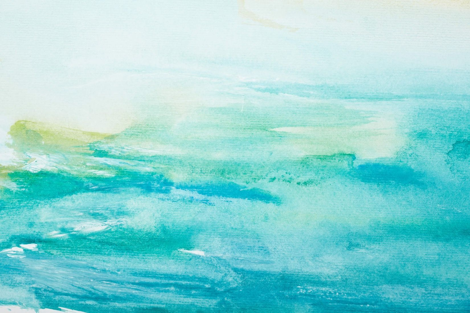 Papel de pared acuarela turquesa seaside home papel de for De que color de papel tapiz para un corredor