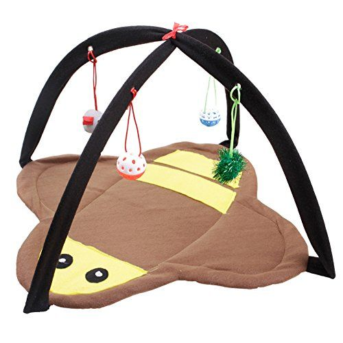 She-love Foldable Cat Play Toy Tent Mat Activity Center Pet Kitten Padded Bed with  sc 1 st  Pinterest & She-love Foldable Cat Play Toy Tent Mat Activity Center Pet Kitten ...