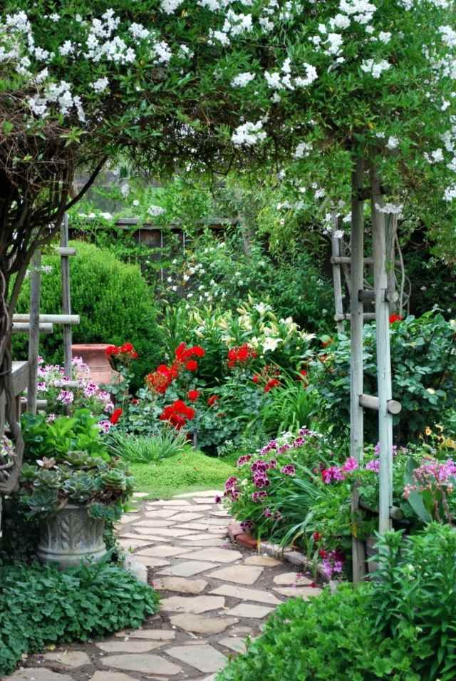 Aménager Son Jardin Idée Fleurs Déco Allée De Jardin Pierre Idees