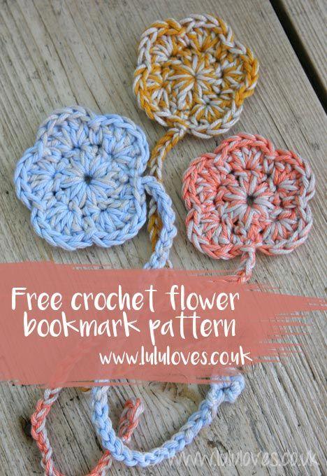 Free Crochet Flower Bookmark Pattern Lululoves Blog Crochet