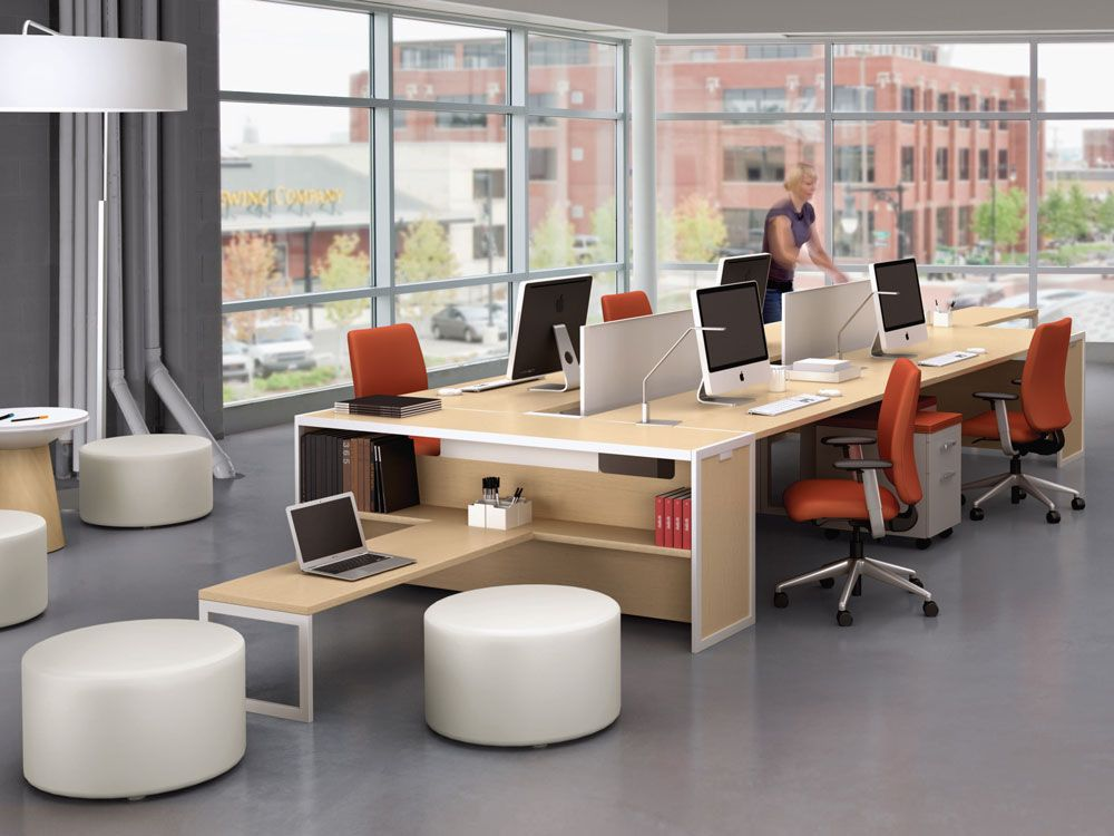 Tour bench collaborative office tables turnstone