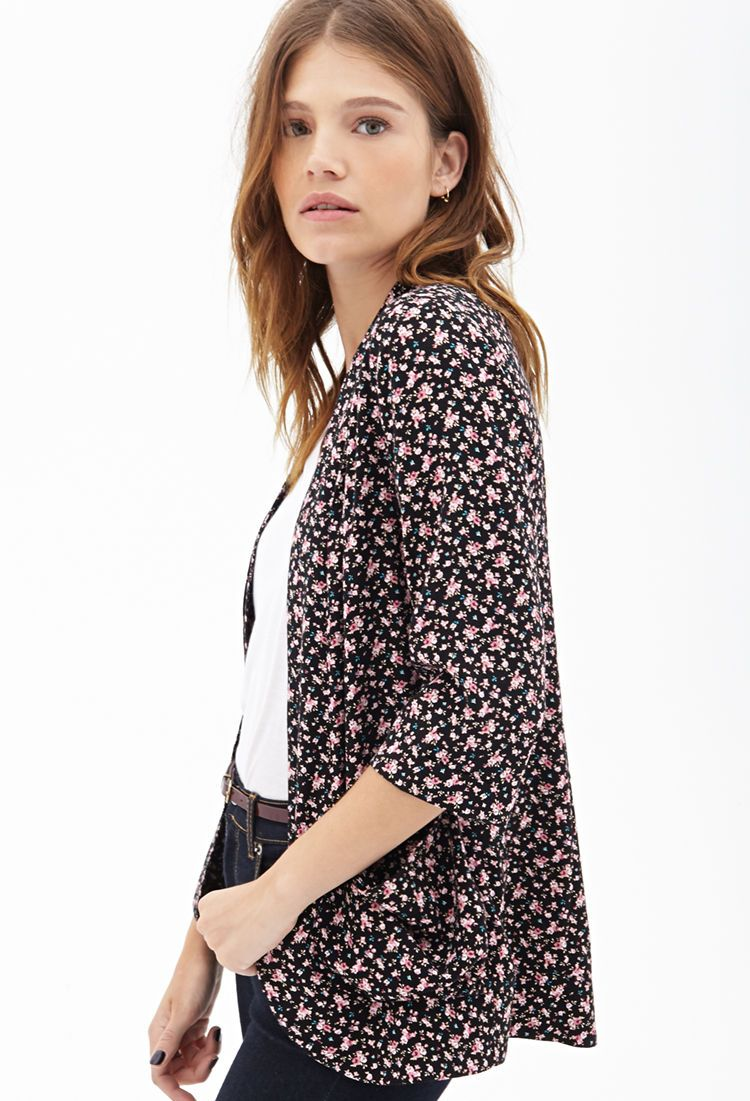 7c22eab16b Ditsy Floral Print Kimono | FOREVER21 - 2000119937 | Just My Style ...