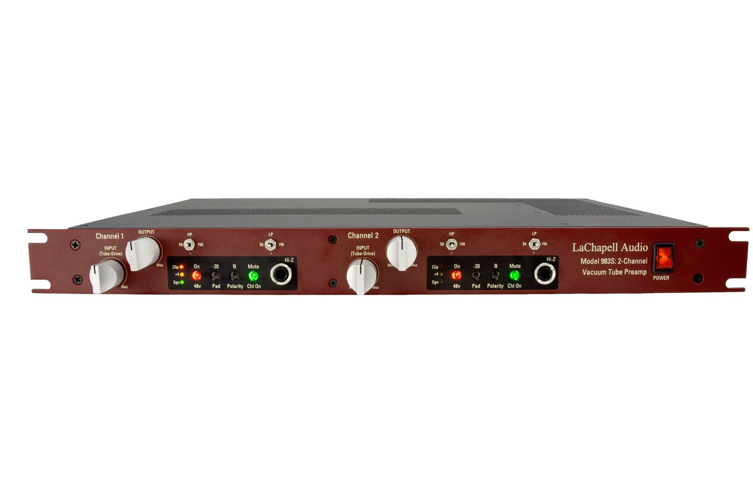 983s Two Channel Rackmount Tube Preamp