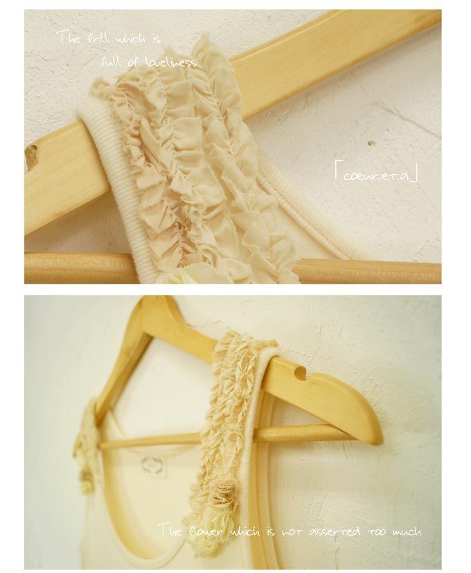 【楽天市場】cawaiiオリジナル「mori」*coeur.et.a*ドイリーの結晶ワンピース 9/11新作:ワンピース専門店 Cawaii- Shirred silk as embellishments on the shoulders
