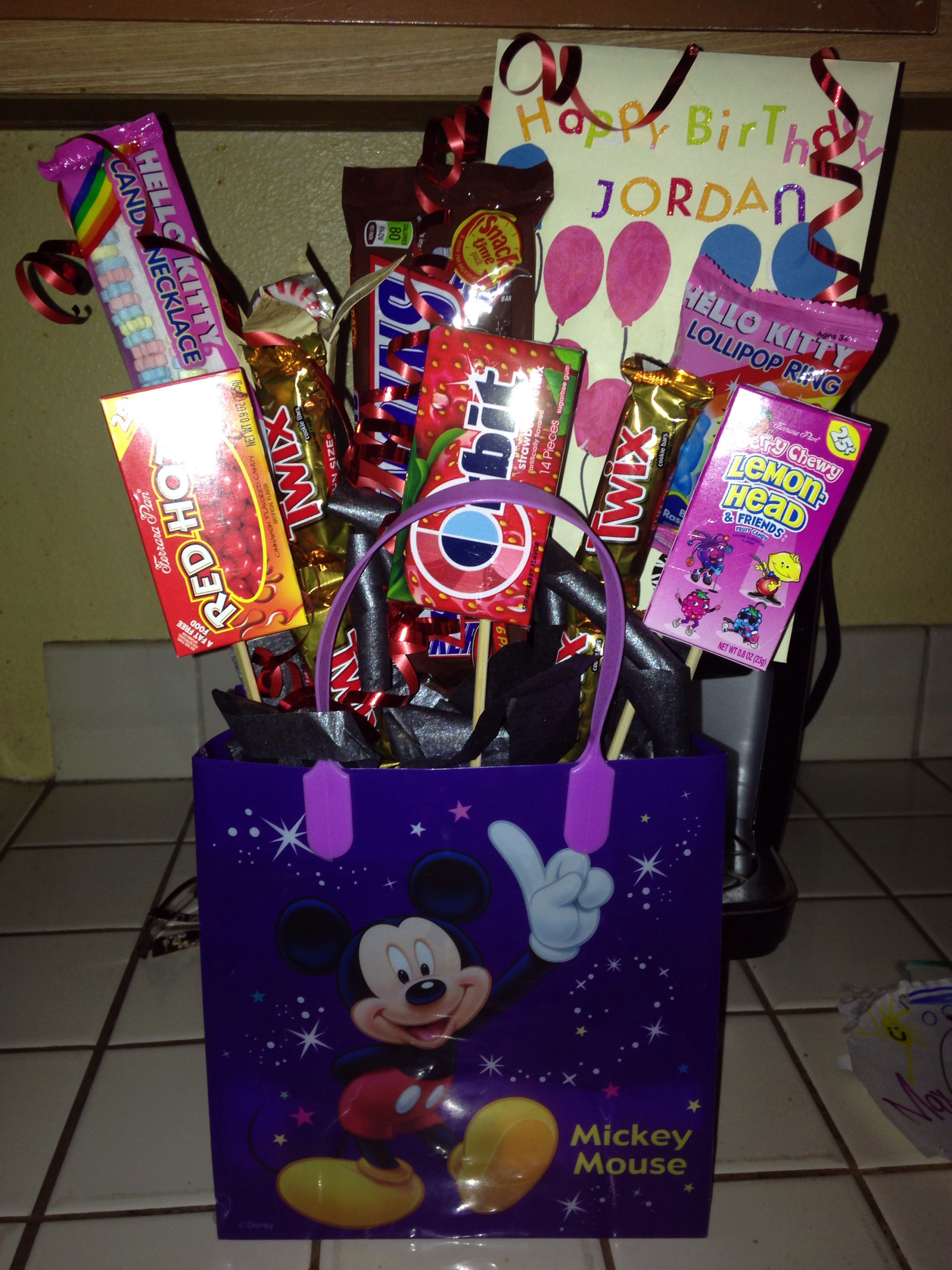Candy Bouquet For A Nine Year Old S Birthday My Girls Are