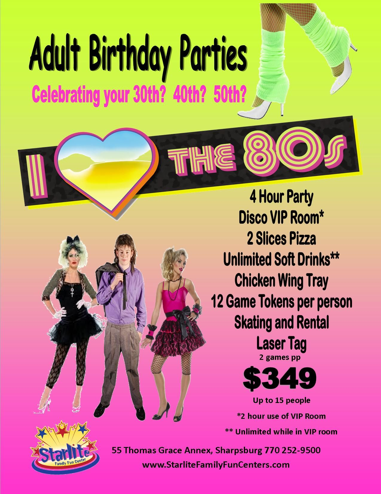 80s Themed Birthday Party Ideas