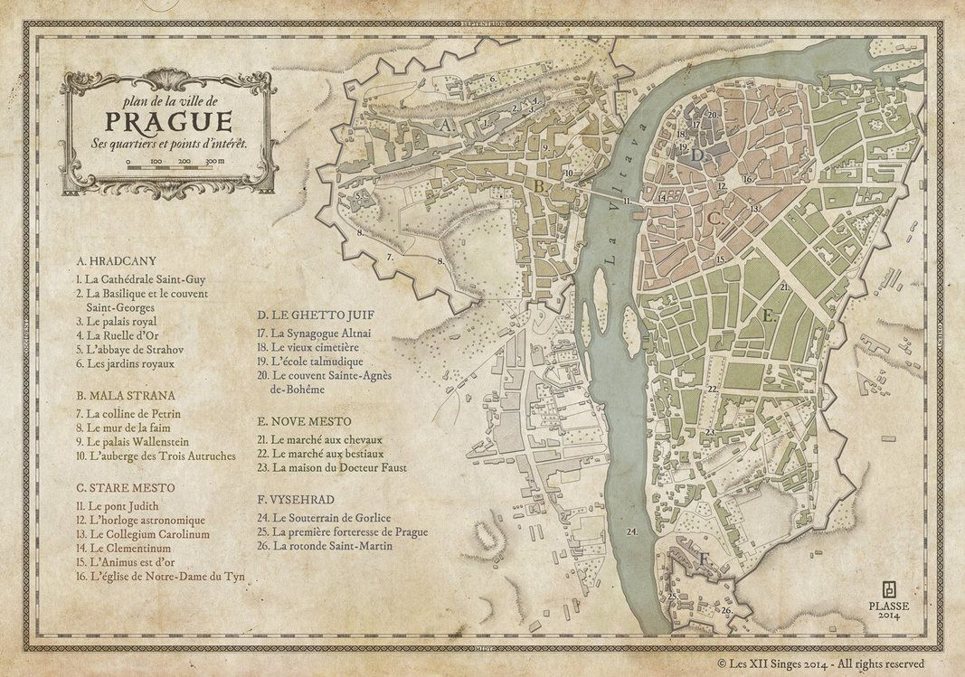 Prague By MaximePLASSE On DeviantArt Cool Maps Pinterest - Maps of ses in us