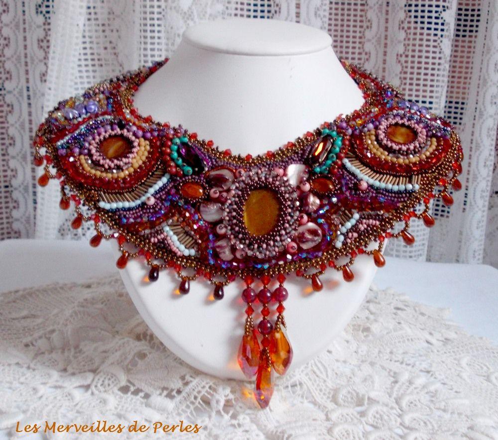 """Le collier """"Topaz"""" avec de belles pierres de gemmes. Vous pouvez le voir sur :  http://lesmerveillespat.canalblog.com/ http://www.alittlemarket.com/boutique/les_merveilles_de_perles-805099.html"""