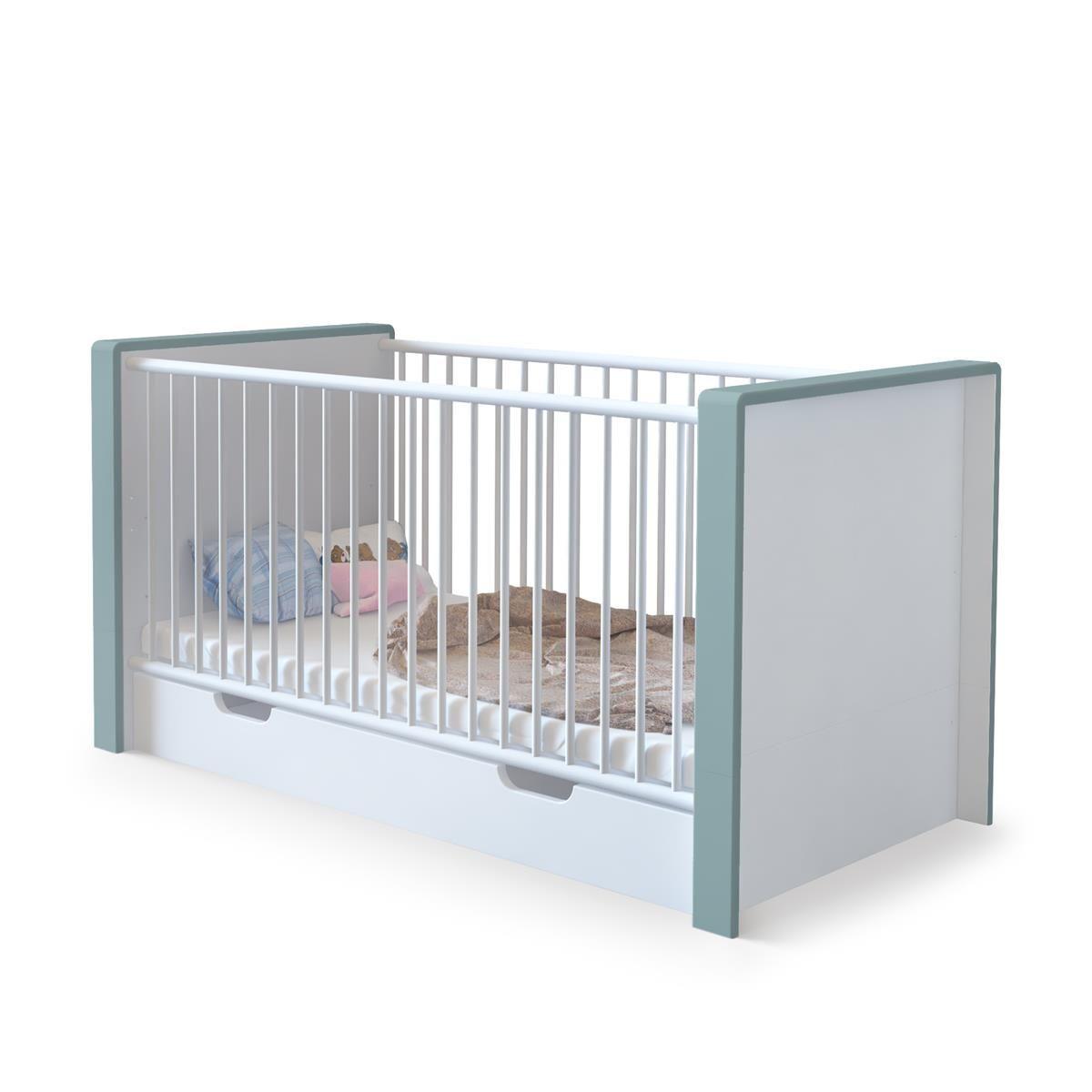 Nandini Babybett ist umbaubar zu einem Juniorbett und wächst damit ...