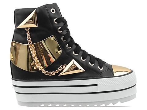 online retailer b136f f9e2c Today s So Shoe Me is the Bournster Chaser Sneaker by Kobe Husk,  250,  available at Solestruck. Monstrous metal accents and smooth black leather  make for a ...