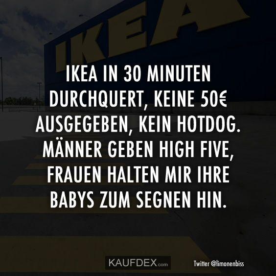 Ikea in 30 Minuten durchqueren, keine 50 € ausgeben ...