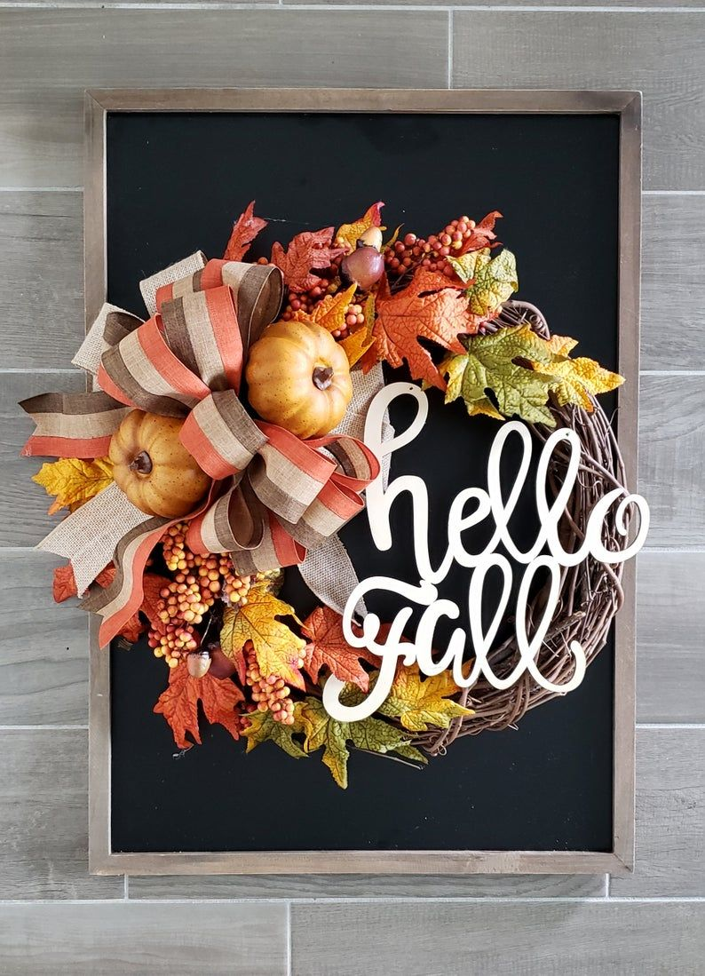 Fall Wreath. Autumn Wreath. Door Wreath. Rustic Wreath. Farmhouse Wreath. Grapevine Wreath. Hydrangea Wreath #helloautumn