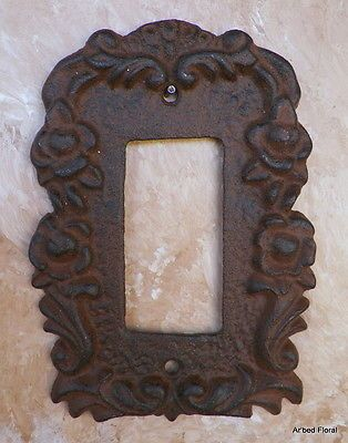 Cast Iron Single Toggle Gfi Outlet Switch Plate Cover Brown Decora Rocker
