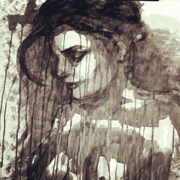 Lela #art #Figurative #paintings #faces #portraits #ink #fineart #molos #morina
