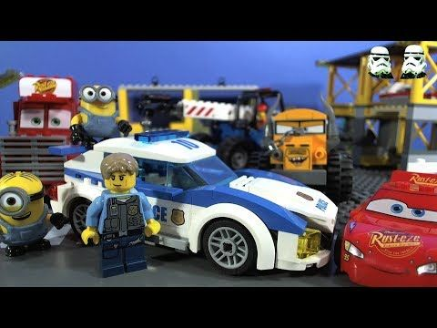 LEGO Police Fire Cars Minions Mad Chase!!!! | Lego City Sets ...